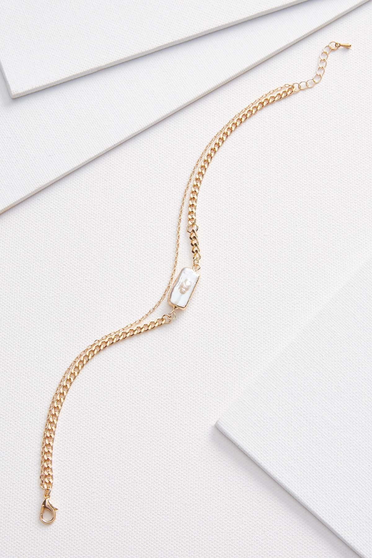 Pearl And Chain Anklet