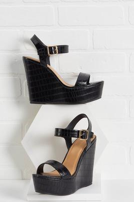 wedge my way in sandals