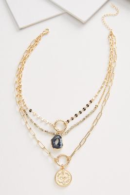 druzy chain necklace