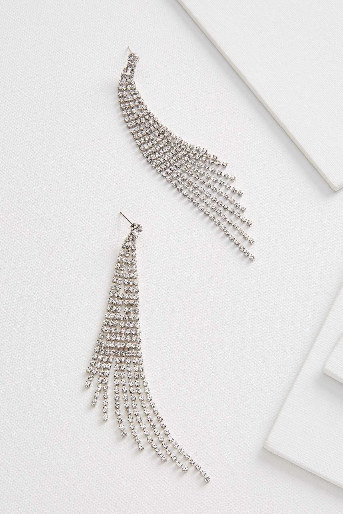 Fringe Rhinestone Earrings
