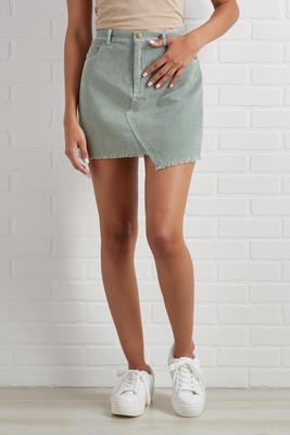 caught up on hem skirt