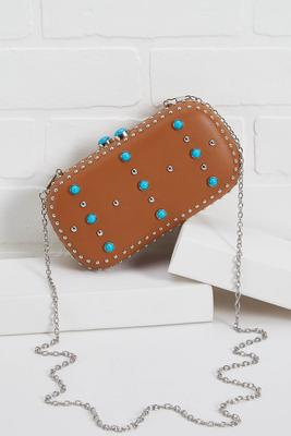 western chic faux leather clutch