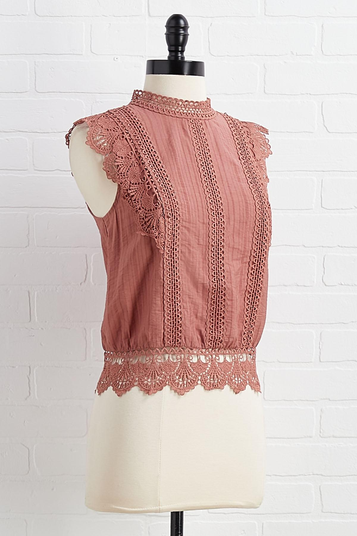 Lace Catch Up Top