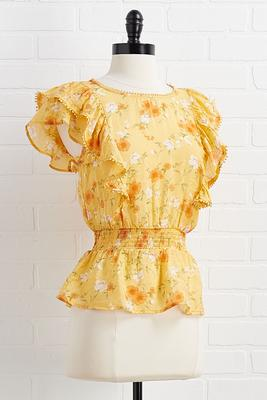 golden flower top