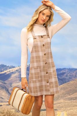 leaf jumper dress