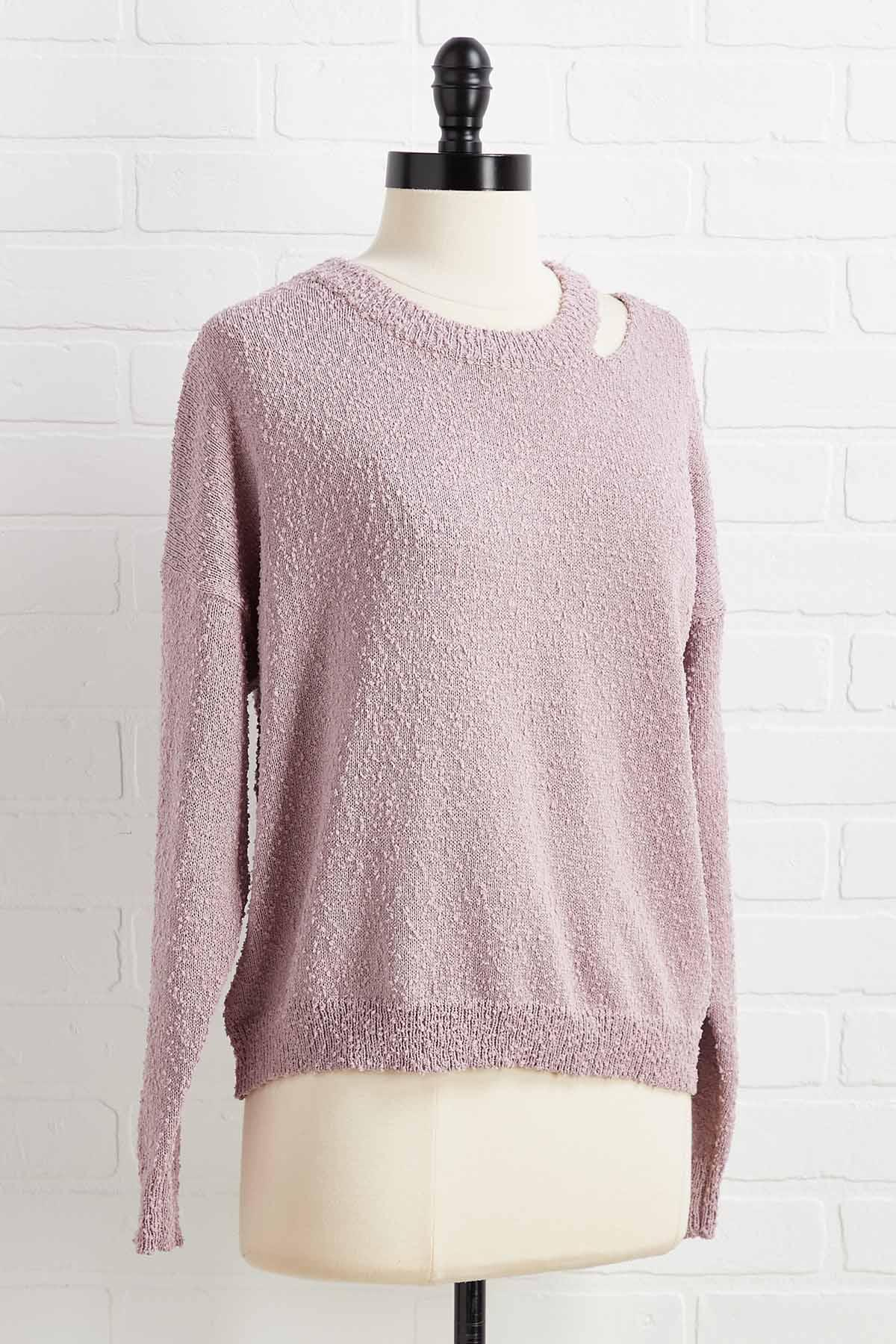 Neck In Line Sweater