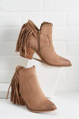 fringe of fall booties