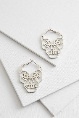 skull hoop earrings