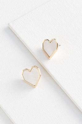 shell heart earrings