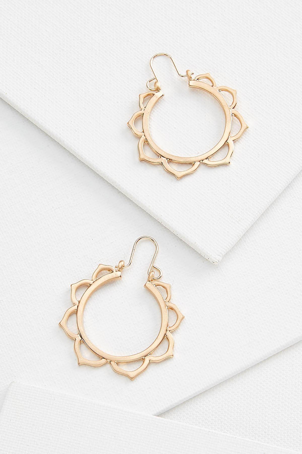 Metal Petal Earrings