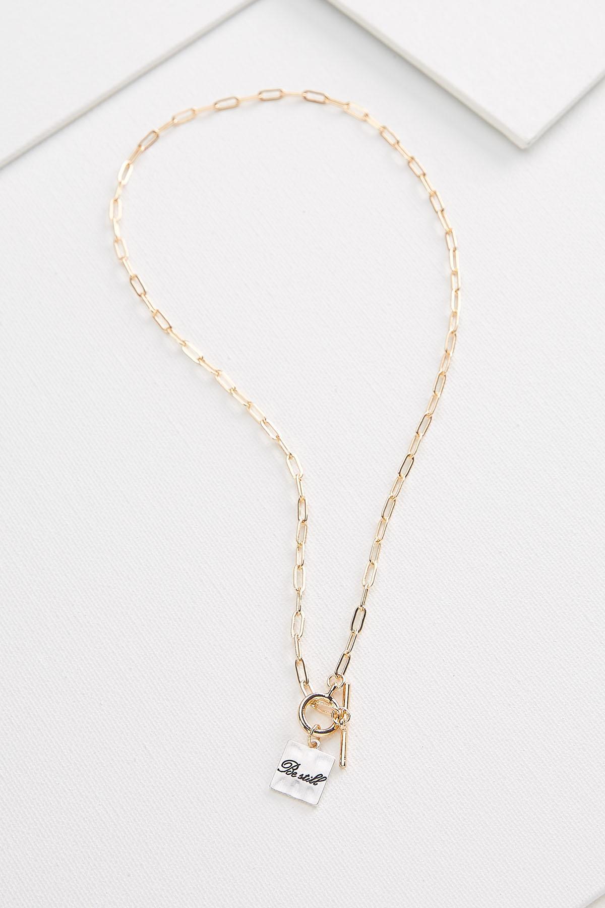 Be Still Pendant Necklace