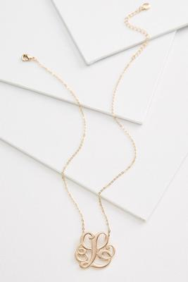 l scroll necklace