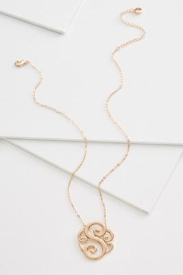 s scroll necklace