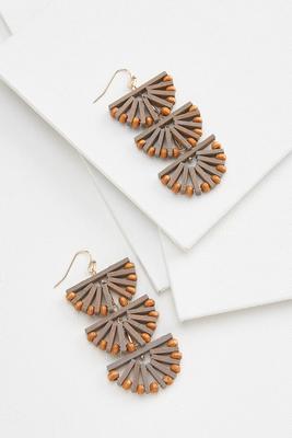 moody fan earrings
