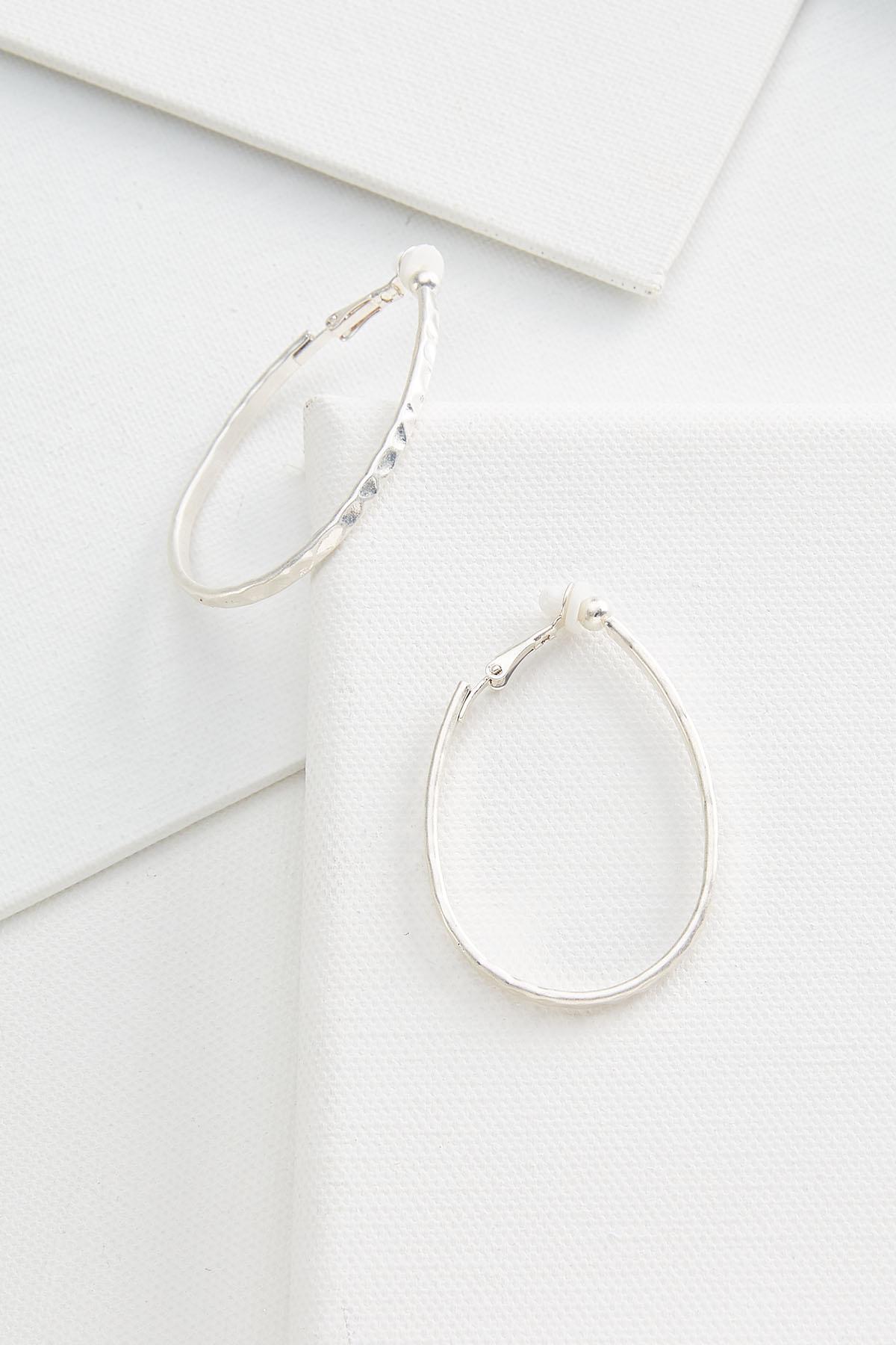 Oval Clip On Earrings