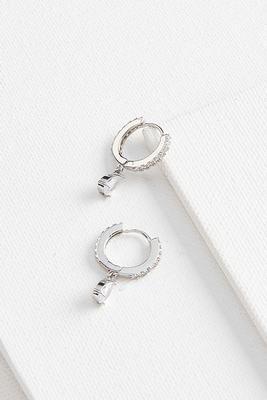 tear huggie earrings