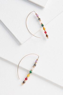 beaded color hoop earrings