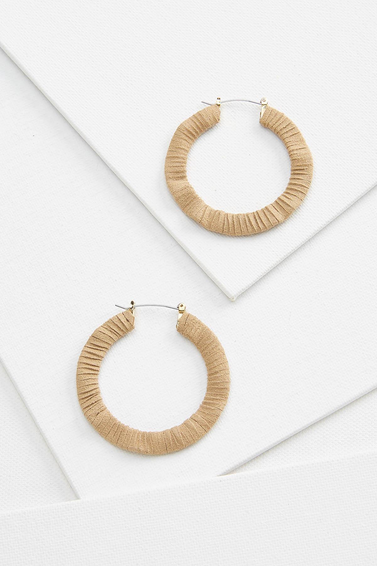 Cord Wrapped Hoop Earrings