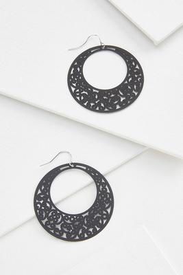 filigree donut earrings
