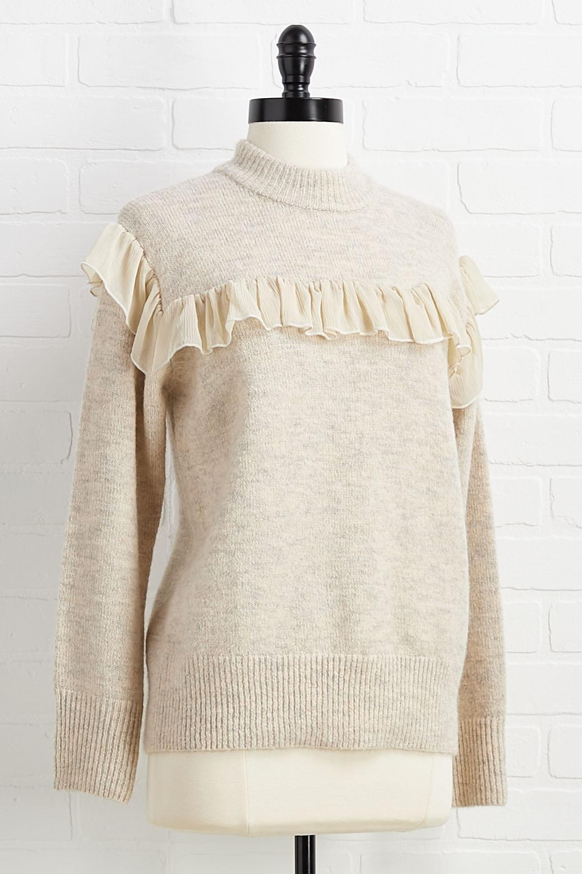 Flounced Fancy Sweater