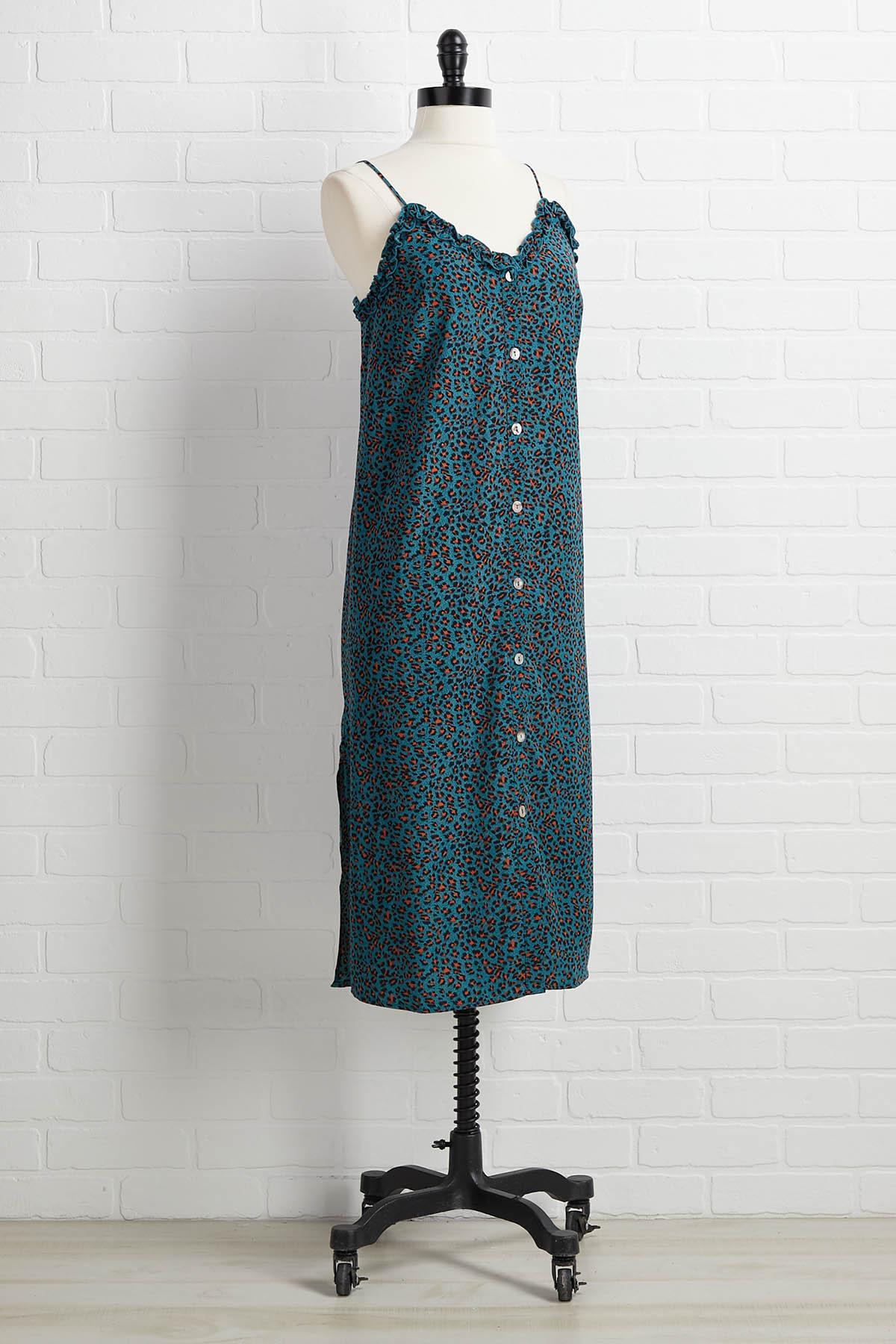 Teal I Say So Dress