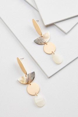 shaky shell disc earrings