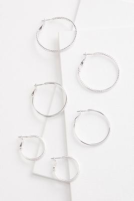 mixed hoop earring set
