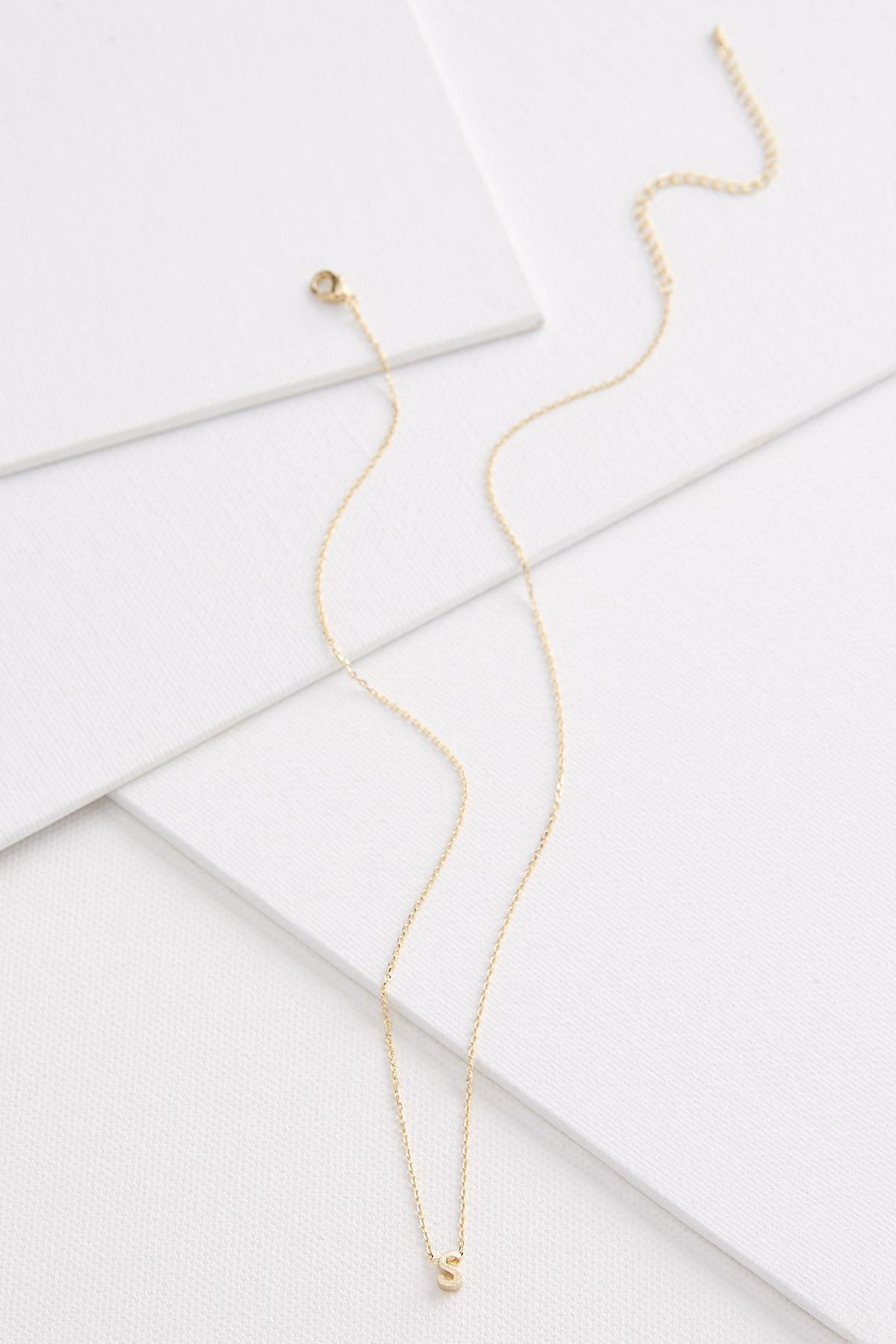 18k Tiny S Necklace