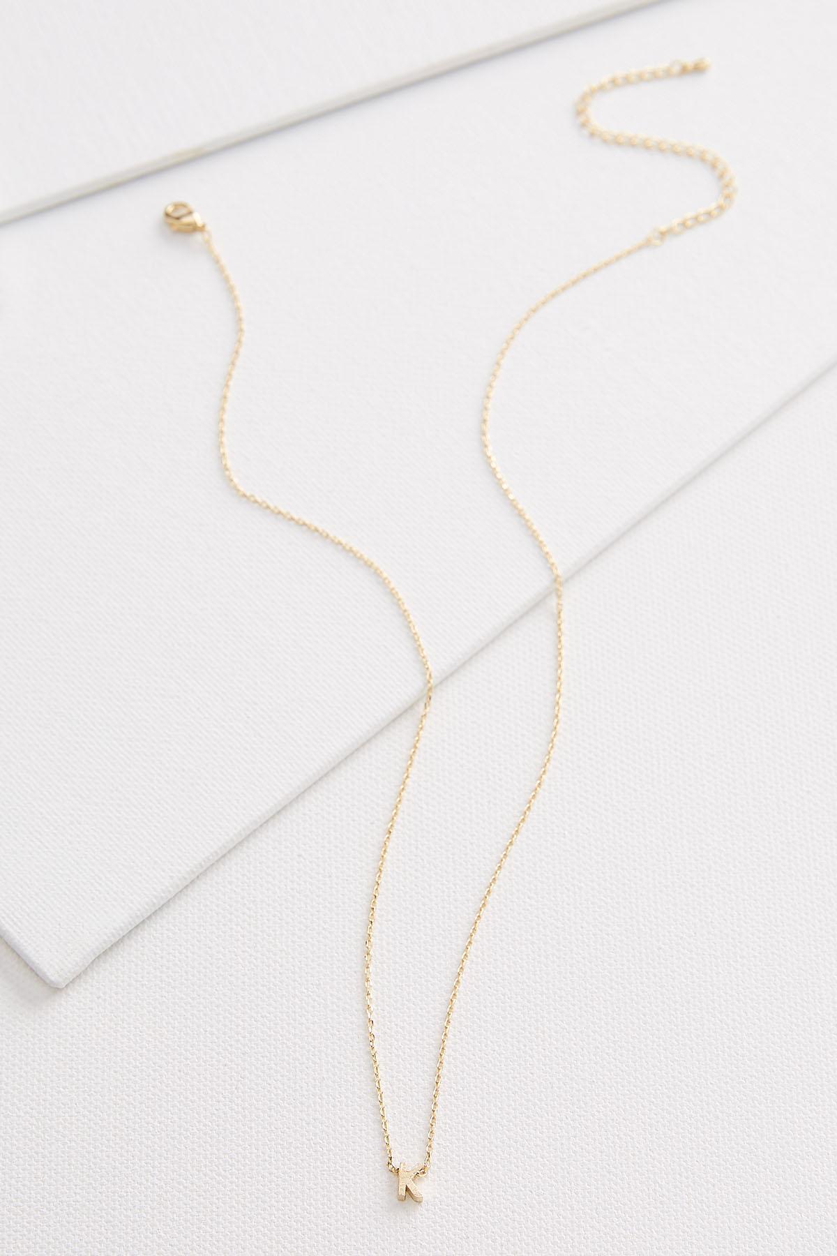 18k Tiny K Necklace