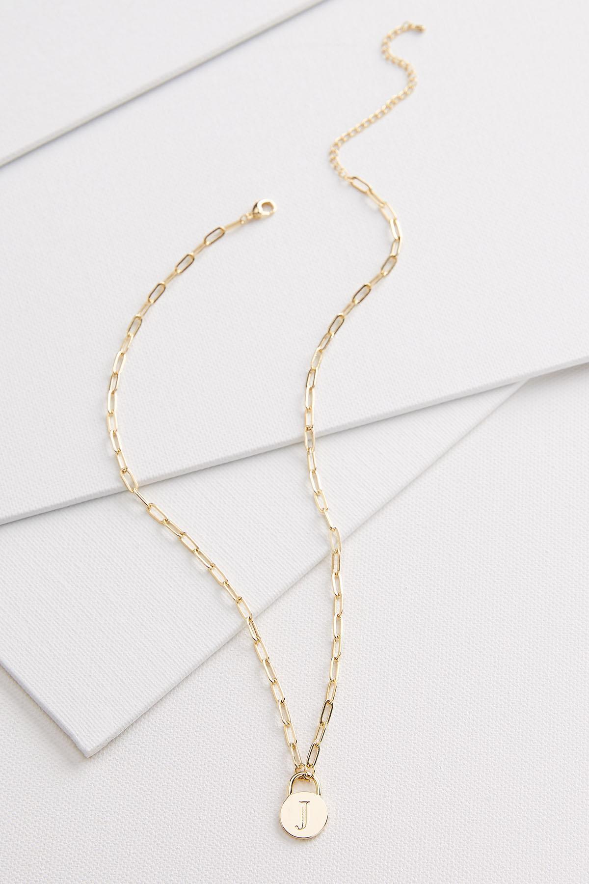 18k J Pendant Necklace