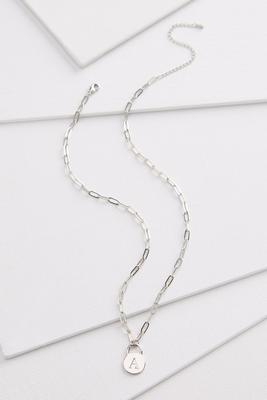 silver a necklace