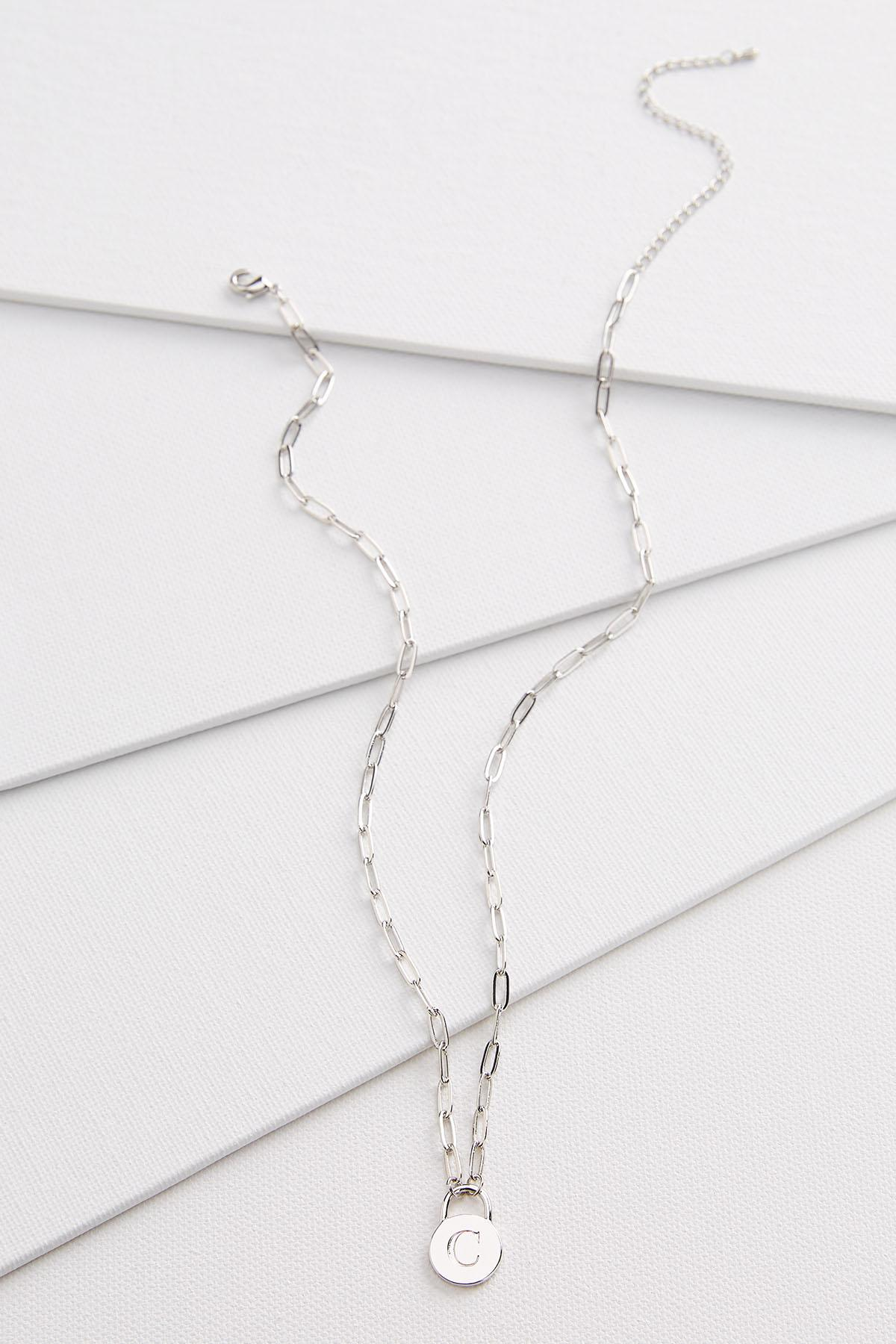 Silver C Necklace