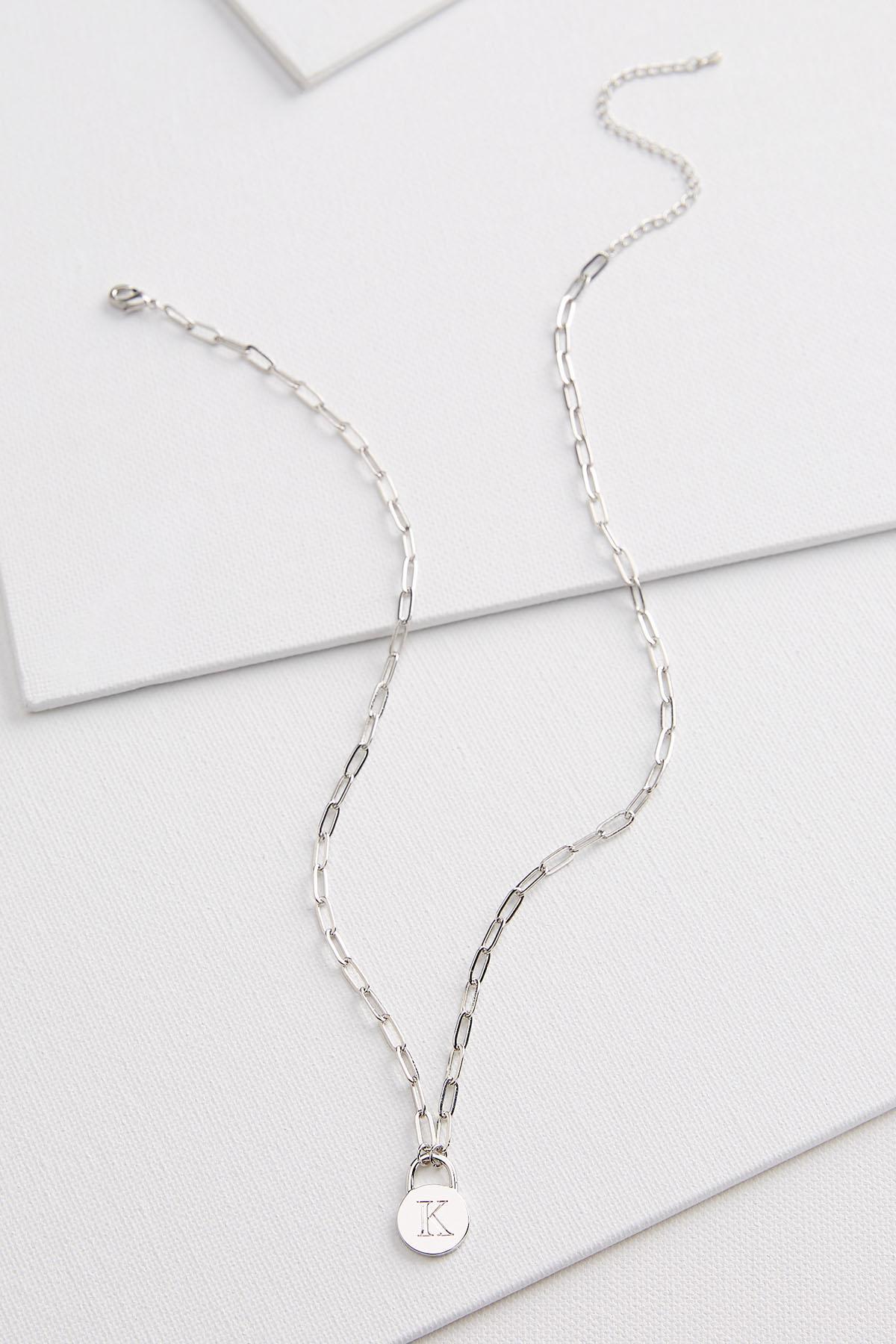 Silver K Necklace