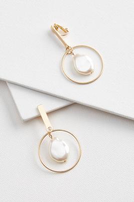 pearl post clip on earrings