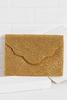 Scalloped Detail Beaded Clutch