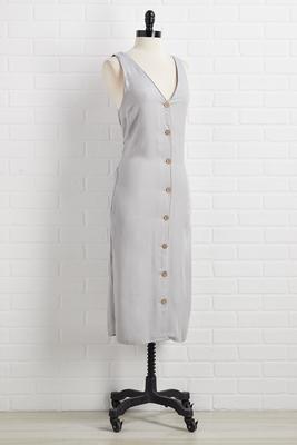 heading button downtown dress
