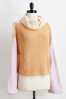 around the colorblock sweater