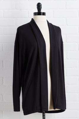 black sleep cardigan