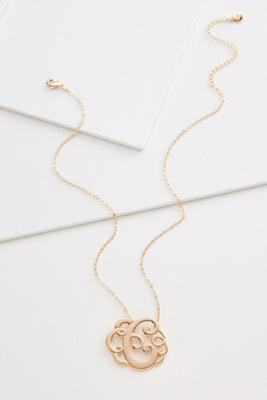 c scroll necklace