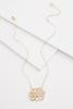 K Scroll Gold Necklace