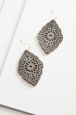 filigree leather earrings