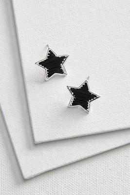 thread wrap star earrings