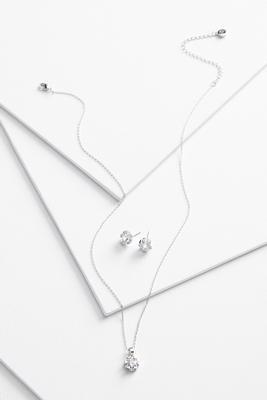 sparkle floral jewelry set