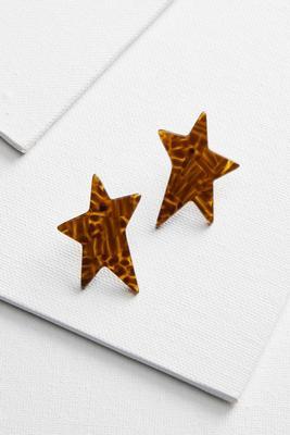 lucite star earrings