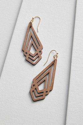 cut out wooden earrings