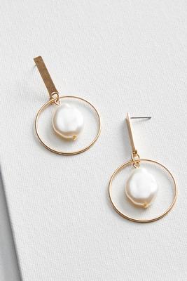 post pearl earrings