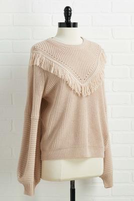 fringe watching sweater