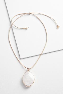 semi precious pendant necklace