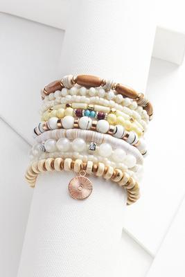 chunky stretch bracelet set