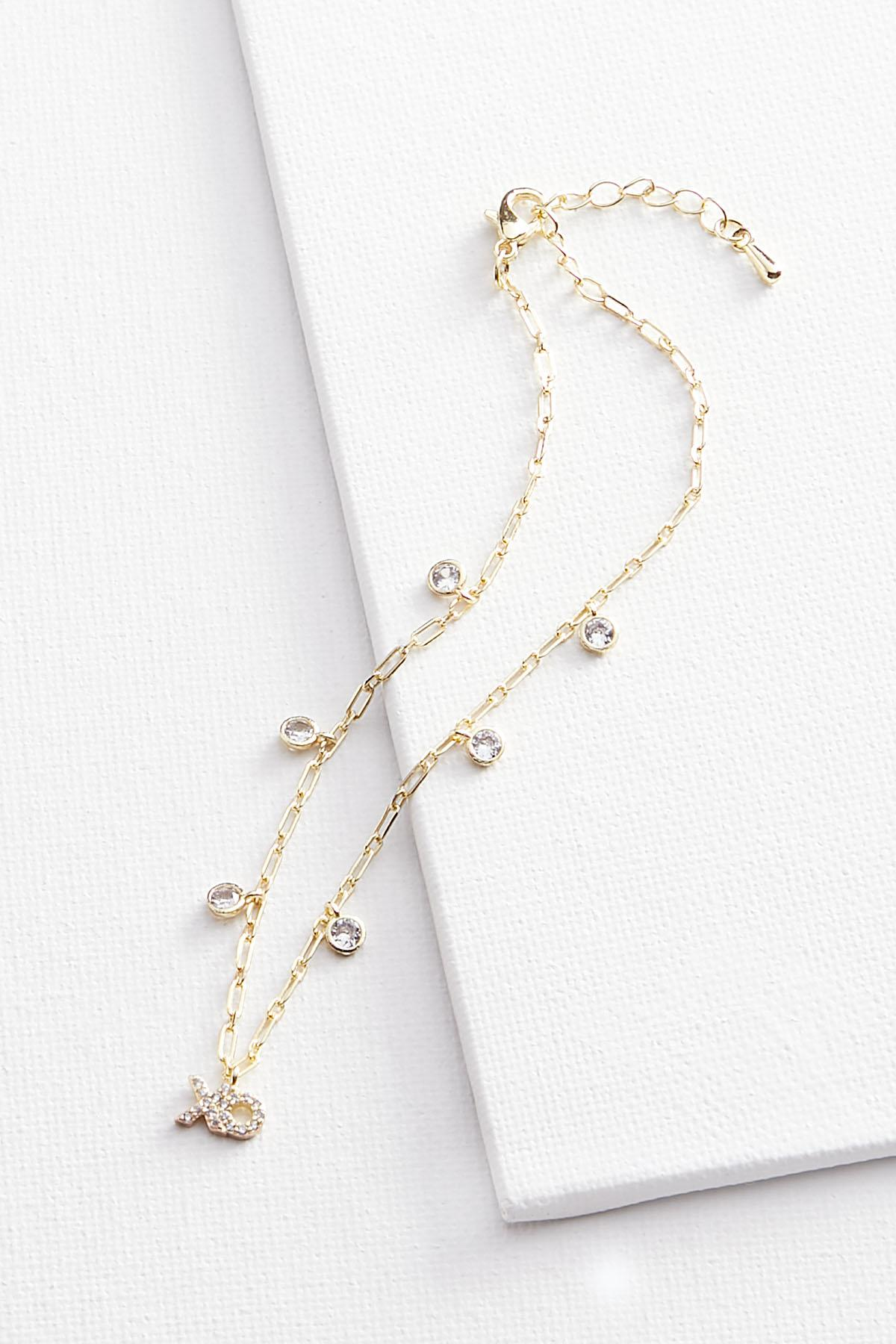 Silver Plated Charm Anklet